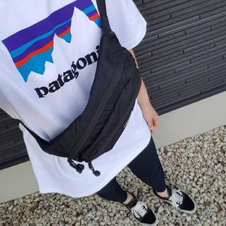 patagonia - patagonia パタゴニア Tシャツ ロゴ フロント ホワイト 白 M