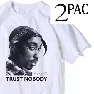 【新品】2pac Tシャツ  ヒップホップ hiphop(Tシャツ/カットソー(半袖/袖なし))