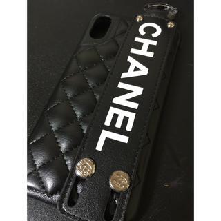 CHANEL - CHANEL  白文字 ブラック iPhone X/XS