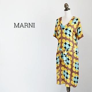 マルニ(Marni)のMARNI マルニ ワンピース ドット(ひざ丈ワンピース)