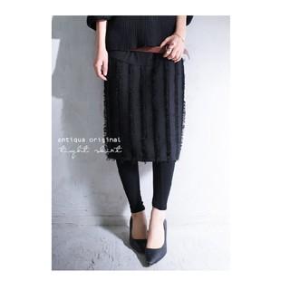 アンティカ(antiqua)のantiqua☆フリンジタイトスカート 完売品(ひざ丈スカート)