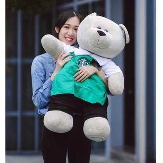 スターバックスコーヒー(Starbucks Coffee)のスタバ 80cm スーパー べアリスタ 進撃の巨熊 海外限定 緑 記念 ギフト(ぬいぐるみ)