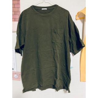 GU - カーキTシャツ