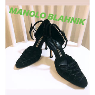 マノロブラニク(MANOLO BLAHNIK)の【最終価格!】マノロ ブラニク レースアップパンプス(ハイヒール/パンプス)