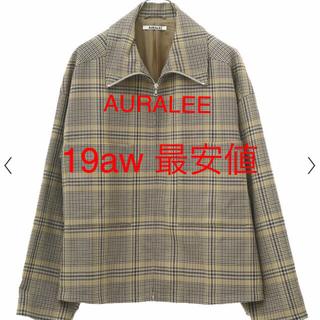 【AURALEE】 19aw 新作 チェックブルゾン