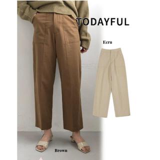 トゥデイフル(TODAYFUL)のtodayful Centerpress Baker Pants ベイカーパンツ(カジュアルパンツ)