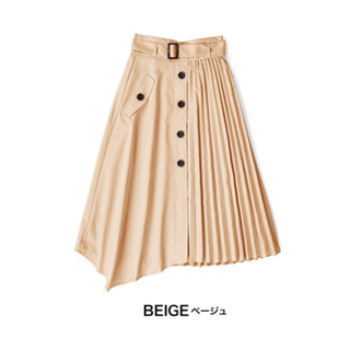 アンデミュウ(Andemiu)のandemiu  アンデミュウ プリーツ切り替えスカート トレンチスカート(ひざ丈スカート)