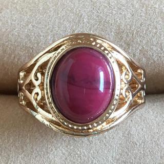 (116)赤瑪瑙のリング ゴールド ヴィンテージ(リング(指輪))