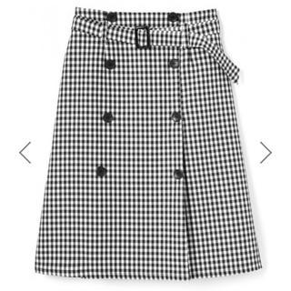 GRL - ベルト付ギンガムチェックトレンチデザインスカート