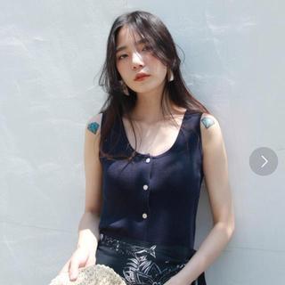 TODAYFUL - 【1度のみ美品】UNE MANSION サマーニット タンクトップ ネイビー