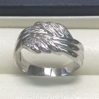 ★大きめの20号★K18WGダイヤモンド・デザインリング★0.10ct(リング(指輪))
