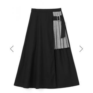 グレイル(GRL)の新作 チェックプリーツ切り替えスカート DHOLIC系 欅坂(ロングスカート)