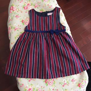 ミキハウス(mikihouse)のミキハウス 90 秋冬用ジャンパースカート&長袖シャツ(ワンピース)