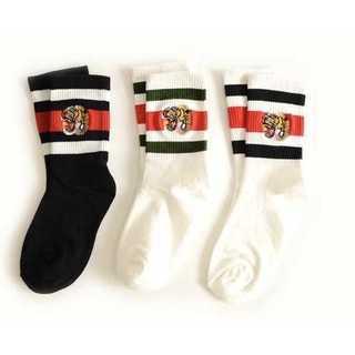 タイガー 刺繍 ソックス 全3色 虎 靴下
