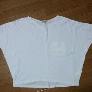 SM2 - サマンサモスモス ビッグシルエット Tシャツ 白 美品♪