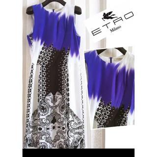 エトロ(ETRO)のETRO エトロ ハイクラス ドレス  セレブ ワンピース(ひざ丈ワンピース)