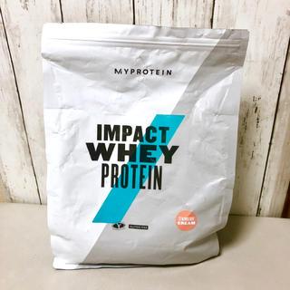MYPROTEIN - マイプロテイン インパクトホエイプロテイン 1kg ストロベリークリーム 開封済