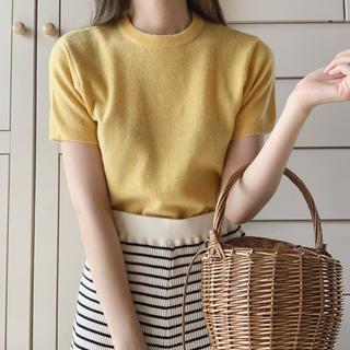 Lochie - vintage yellow knit