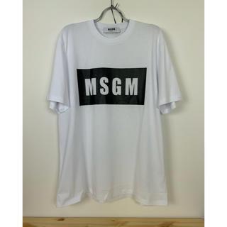 エムエスジイエム(MSGM)の未使用 MSGM エムエスジイエム コットンカットソー Tシャツ sizeM(Tシャツ/カットソー(半袖/袖なし))