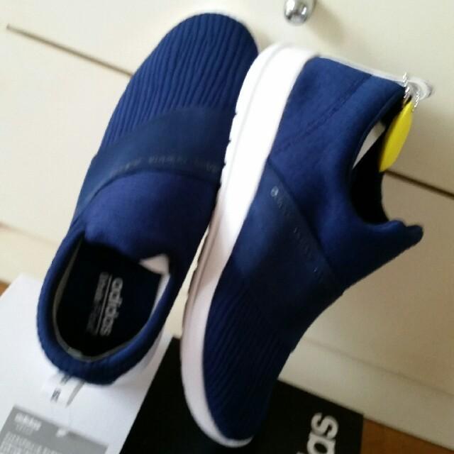 adidas(アディダス)の新品タグ付き adidas 稀少サイズ 25.5cm  ネイビー スリッポン レディースの靴/シューズ(スニーカー)の商品写真