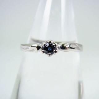 K18WG サファイア ダイヤモンド リング 10.5号[f39-9](リング(指輪))