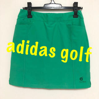 adidas - 美品♡アディダスゴルフ コオリナ インナーパンツ一体型 ゴルフ スカート 緑