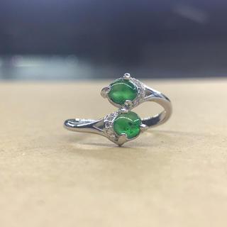ミャンマー産天然本翡翠 ヒスイ 天然石 指輪 リング パワーストーン プレゼント(リング(指輪))