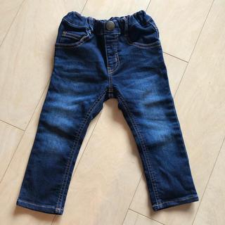 mou jon jon - 試着のみ ムージョンジョン 柔らかデニムパンツ ダメージジーンズ 90cm 80
