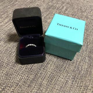 ティファニー(Tiffany & Co.)のティファニーシェアブロングセッティングリングPtダイヤ ハーフエタニティ(リング(指輪))