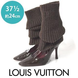 ルイヴィトン(LOUIS VUITTON)の美品❤️ルイヴィトン ニットソックス付き パンプス 37 1/2(約24cm)(ハイヒール/パンプス)