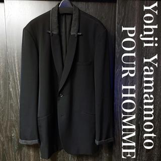Yohji Yamamoto - ヨウジヤマモト プールオム ウールギャバ  ビッグテーラード