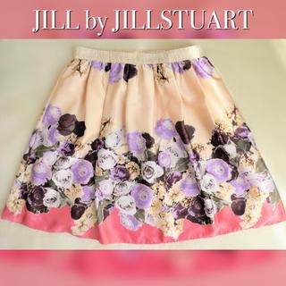 JILL by JILLSTUART - ジルバイジルスチュアート 花柄スカート フラワー ローズ フレア