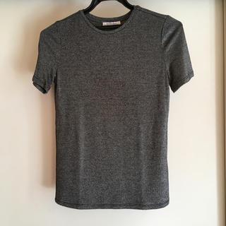 ザラ(ZARA)のZARA シルバーラメTシャツ(Tシャツ(半袖/袖なし))