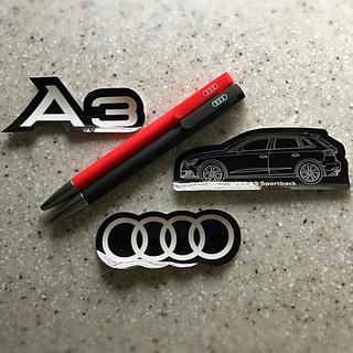 アウディ(AUDI)のAudi アウディ ボールペン2本+ステッカー3枚(ペン/マーカー)