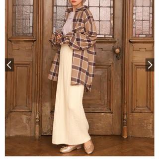 ナイスクラップ(NICE CLAUP)のアイボリー ナイスクラップ ニットロングスカート(ロングスカート)