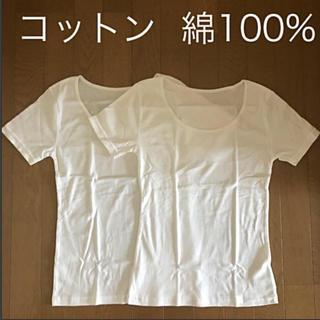 コットン  綿 100% 白 2枚セット