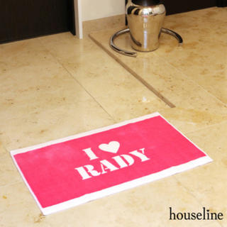 レディー(Rady)の新品未使用♡Rady♡  I♡Rady玄関マット ショッキングピンク(玄関マット)