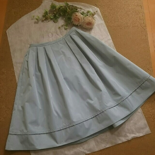 FOXEY - 最終☆フォクシー ☆スモーキーブルーが美しいスカート 38