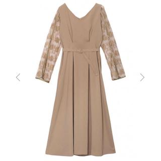 アメリヴィンテージ(Ameri VINTAGE)のameri vintage レースドレス*ベージュ(ロングドレス)