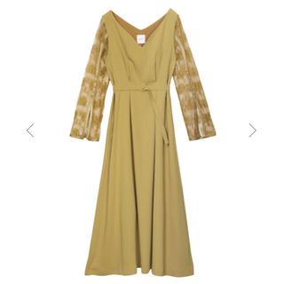 アメリヴィンテージ(Ameri VINTAGE)のameri vintage レースドレス*イエロー(ロングドレス)