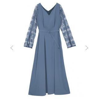 アメリヴィンテージ(Ameri VINTAGE)のameri vintage レースドレス*ブルー(ロングドレス)