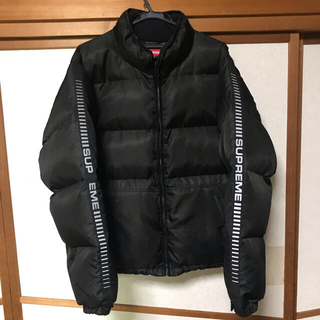 Supreme - [M] Reflective Sleeve Logo Puffy Jacket