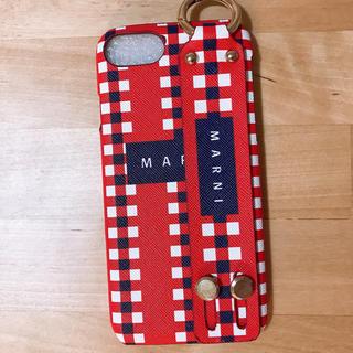 マルニ(Marni)のiphone7/iphone8 ケース  レッド/ネイビー 即日発送(iPhoneケース)