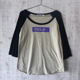 MILKFED. - MILK FED ラグラン七分袖Tシャツ XSサイズ