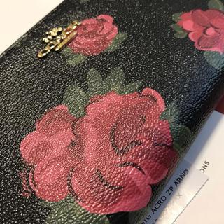 COACH - セール!コーチ 新品 薔薇 ブラック 長財布