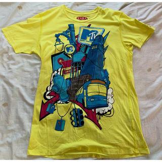 ザラ(ZARA)の★ MTV イラスト Tシャツ ZARA ★サイズ L ★カラーイエロー(Tシャツ/カットソー(半袖/袖なし))