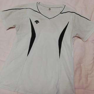 デサント(DESCENTE)のDESCENTE 半袖シャツ 白×黒(バレーボール)