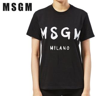 エムエスジイエム(MSGM)の【11】MSGM ブラック MILANOロゴ 半袖 Tシャツ size XL(Tシャツ/カットソー(半袖/袖なし))