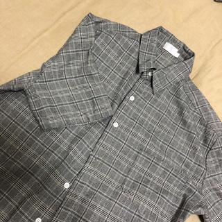 ディーホリック(dholic)の韓国 メンズ シャツ 半袖 グレンチェック オルチャン(シャツ)