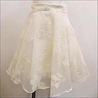 snidel - snidel フロッキーフラワー 花柄スカート オーガンジー